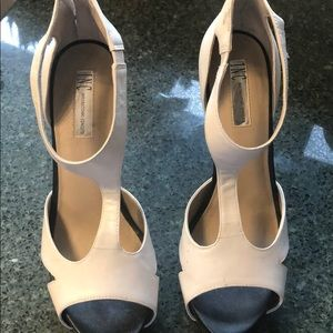 Black and white sandals NWOT